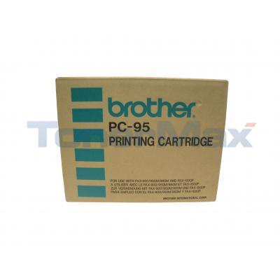 BROTHER PC-95 REFILL ROLLS KIT BLACK 